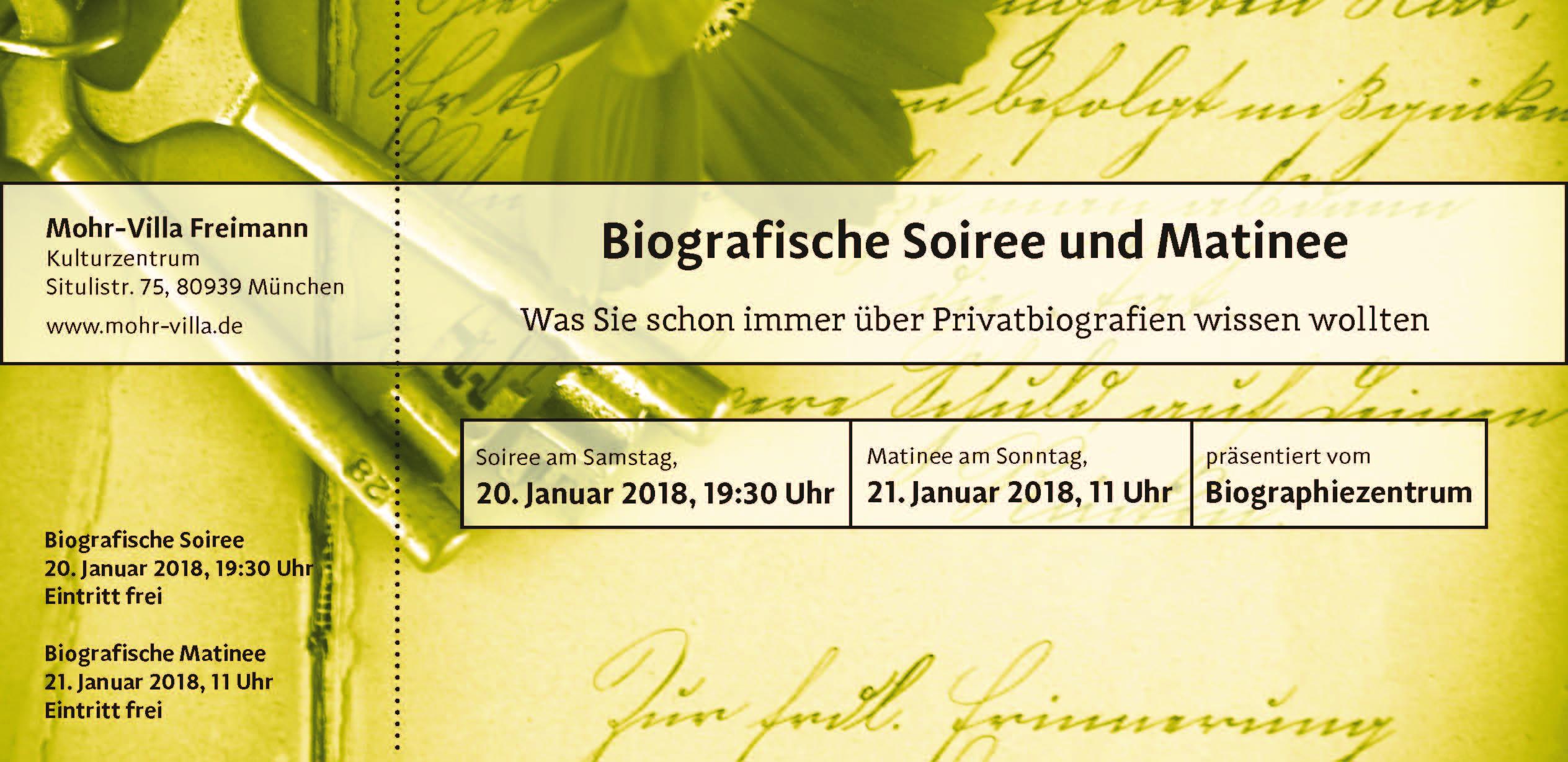 Biographiezentrum-Matinee